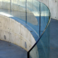 custom bent glass railings
