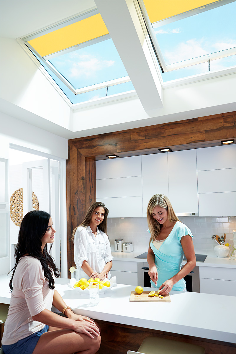 Enjoy a VELUX kithen with Gold Coast Skylights.